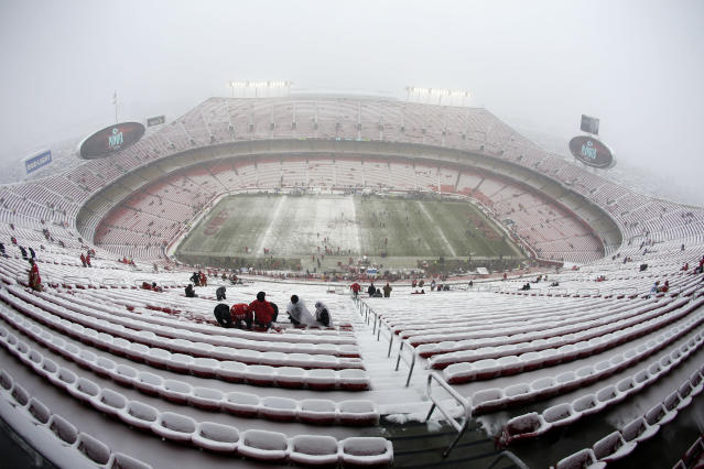 There could be frigid temperatures for Sunday's AFC title game at Arrowhead Stadium. (AP)