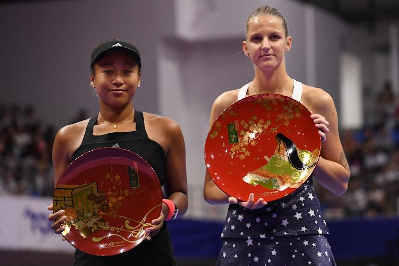 US Open winner Osaka had started the Pan Pacific final as the favourite, but Pliskova secured a clinical victory (AFP Photo/Toshifumi KITAMURA)