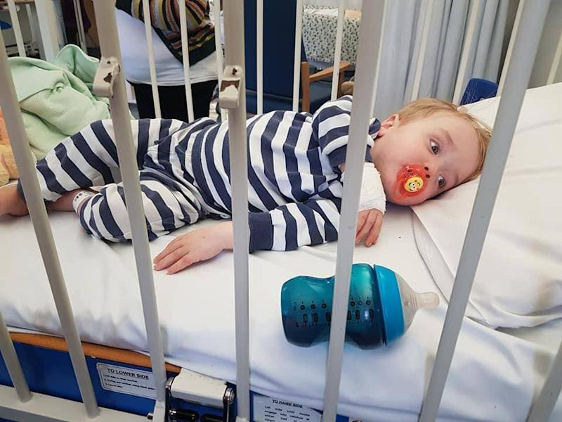 19-month-old Ronnie is the youngest stroke victim in Britain (Phil Kerman / SWNS.com)