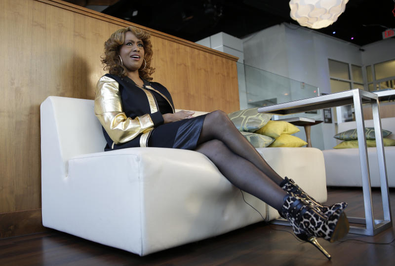 """This Jan. 15, 2014 photo shows actress and singer Jennifer Holliday during an interview in Atlanta. Holliday, best known for her Tony-winning performance as Effie in the original Broadway production of """"Dreamgirls"""" and the iconic rendition of """"And I Am Telling You I'm Not Going,""""released her first solo album in two decades. (AP Photo/John Bazemore)"""