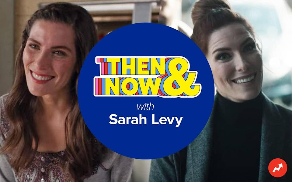 """A header reading """"Then and Now with Sarah Levy"""""""