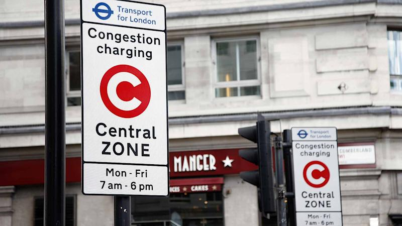 London Congestion Charging Central Zone road sign
