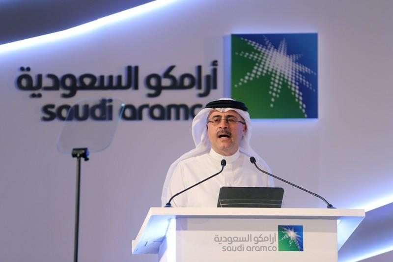 FILE PHOTO: Amin H. Nasser, president and CEO of Saudi Aramco, speaks during a news conference in Dhahran