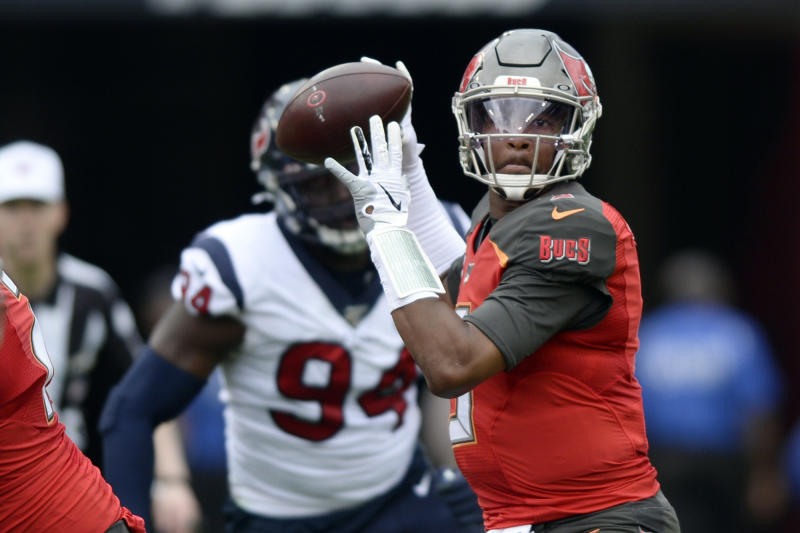 Former Tampa Bay Buccaneers quarterback Jameis Winston (3) won't be a starter in 2020. (AP Photo/Jason Behnken, File)