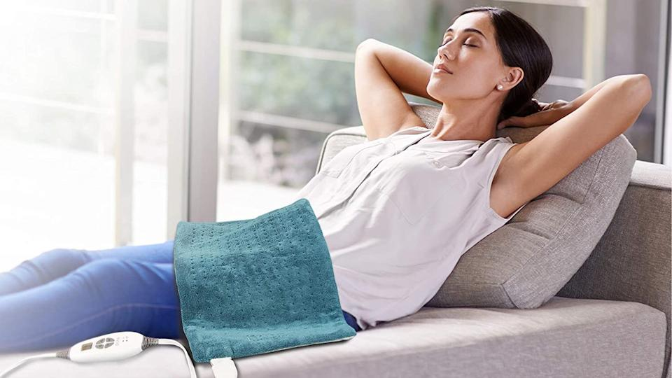 This heating pad is one of our favorites—and right now it's on sale.