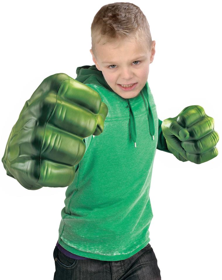 Avengers- Hulk Smash Fists:  Hulk smash! Don't worry, these soft foam-rubber fists won't actually cause any damage. Kids can pretend to be their favourite 'The Avengers' superhero with the popular gloves.  For ages 3+  Price $29.99