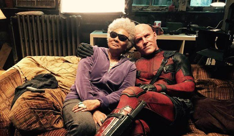 Deadpool and Blind Al get close in Deadpool 2 - Credit: 20th Century Fox