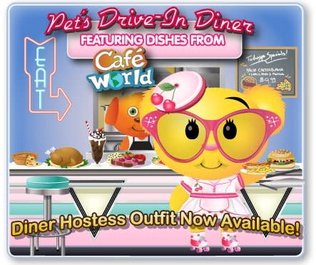 PetVille Diner Hostess Outfit