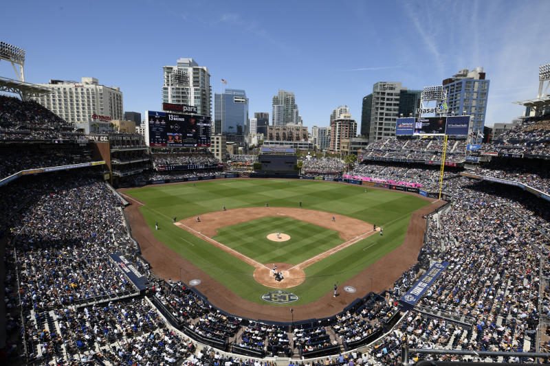 SAN DIEGO, CA - MAY 5: A general view of Petco Park during the third inning of a baseball game between the Los Angeles Dodgers and the San Diego Padres at Petco Park May 5, 2019 in San Diego, California. (Photo by Denis Poroy/Getty Images)