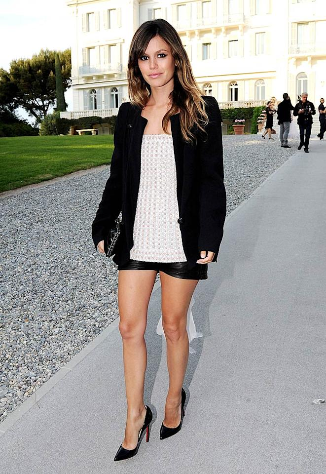 "Also in attendance at the Chanel soiree ... former ""O.C."" cast member Rachel Bilson, who paired a blazer with a strapless top, barely-there leather shorts, and pointy black pumps. Dominique Charriau/<a href=""http://www.gettyimages.com/"" target=""new"">GettyImages.com</a> - May 9, 2011"