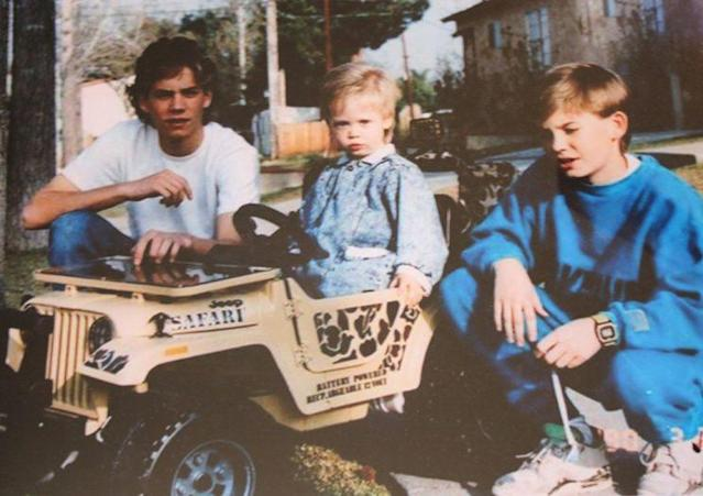 Paul Walker with his two younger brothers, Cody and Caleb. (Photo: Front Page Media / Splash News) <br>