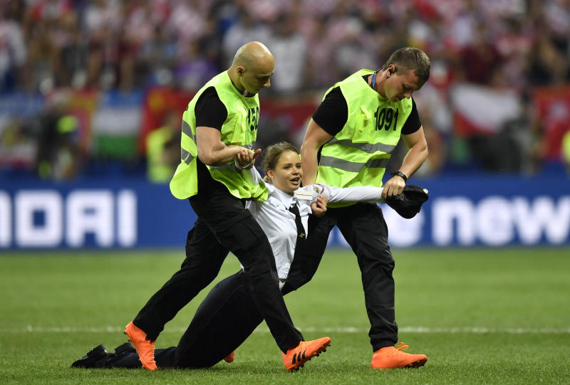 Pussy Riot upstages Putin with protest that halts World Cup