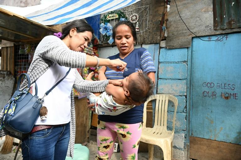 Authorities in the Philippines are aiming to vaccinte millions of children against polio