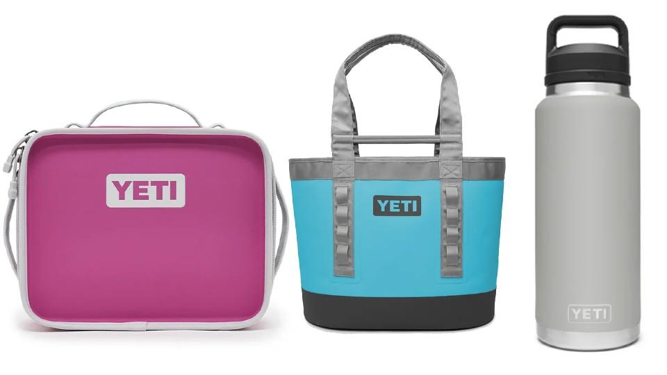 Daytrip Lunch Box, Camino Carryall 35 and Rambler 1.36 L bottle with chug cap - YETI, $99, $200, $70