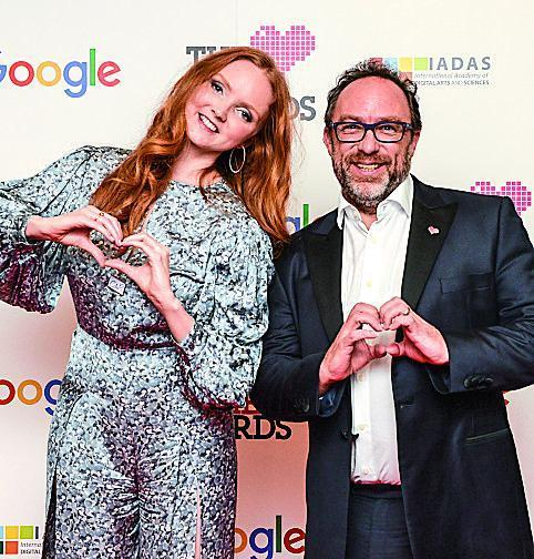 Wales and Lily Cole (Frankowski/REX/Shutterstock)
