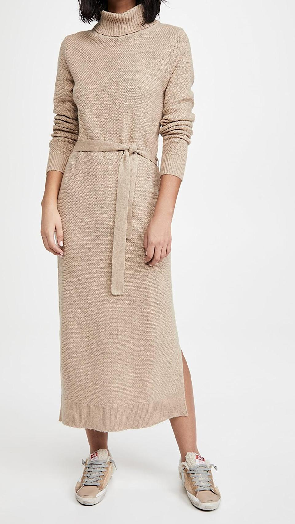 <p>You'll feel comfortably stylish in this <span>Splendid Stella Sweater Dress</span> ($238).</p>