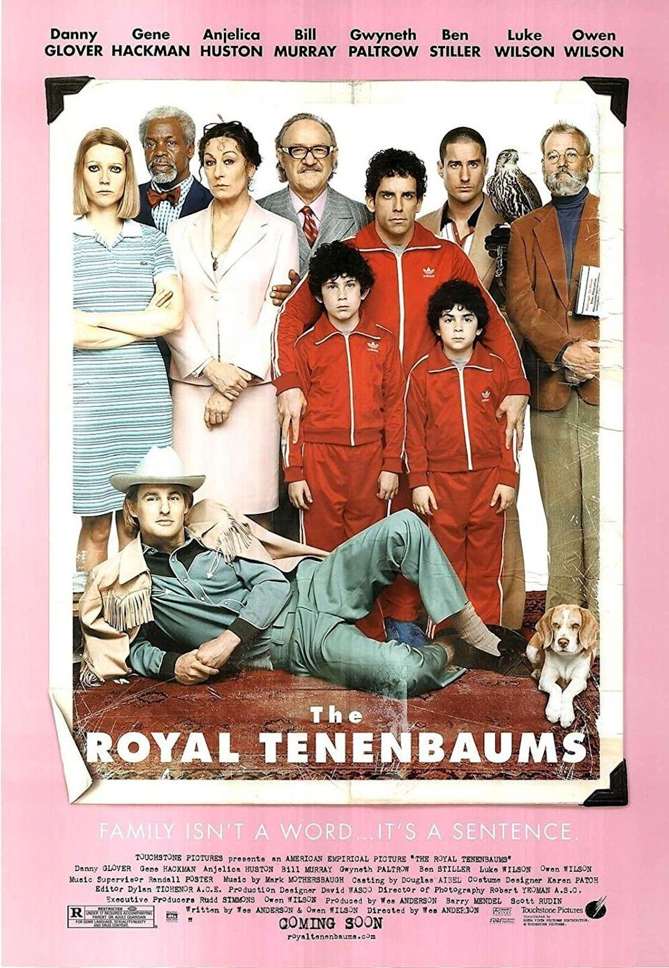 <p>One of Wes Anderson's most celebrated works, The Royal Tenenbaums was released on December 14, 2001. The story follows a family patriarch (Gene Hackman) as he attempts to reunite his estranged family and tries to make amends. With an all-star cast including Bill Murray, the Wilson brothers, and Gwyneth Paltrow, it's definitely an original storyline and still a must-see. </p>