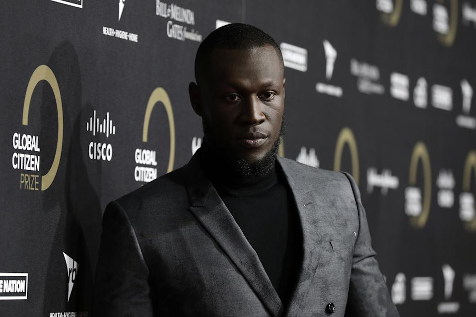 LONDON, ENGLAND - DECEMBER 13: Stormzy attends the 2019 Global Citizen Prize at the Royal Albert Hall on December 13, 2019 in London, England. (Photo by Tristan Fewings/Getty Images for Global Citizen)