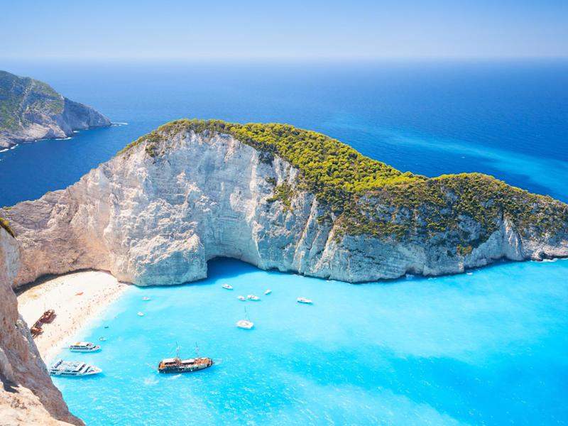 Navagio Bay on Zakynthos, Greece: istock