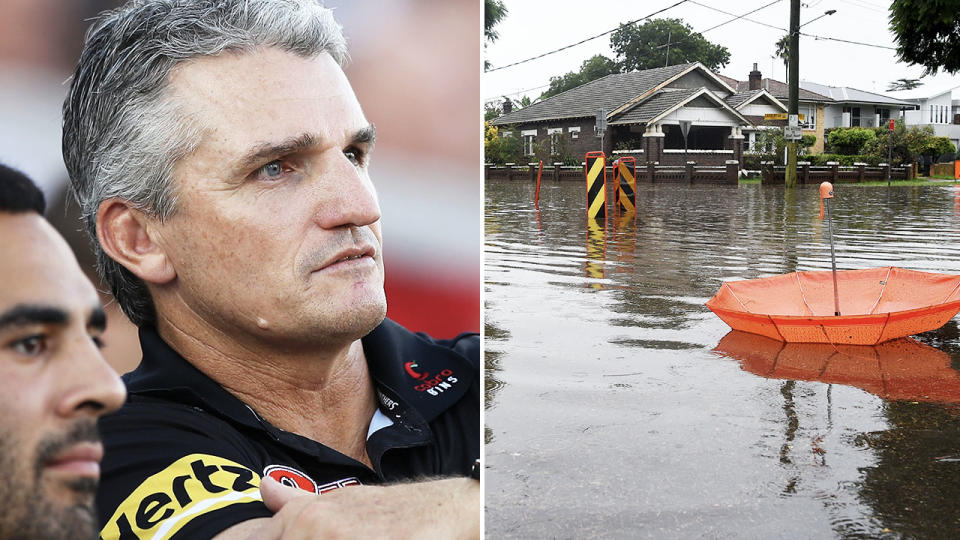Ivan Cleary, pictured here watching a Penrith Panthers game.