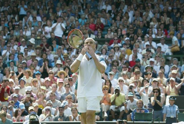 Agassi avoided Wimbledon early in his career but became a huge crowd favourite there
