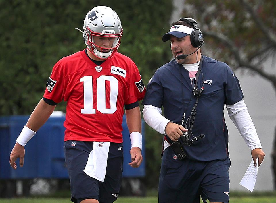 Mac Jones said he's prepared to be the Patriots' starter from Day 1 of training camp. (Photo by Barry Chin/The Boston Globe via Getty Images)