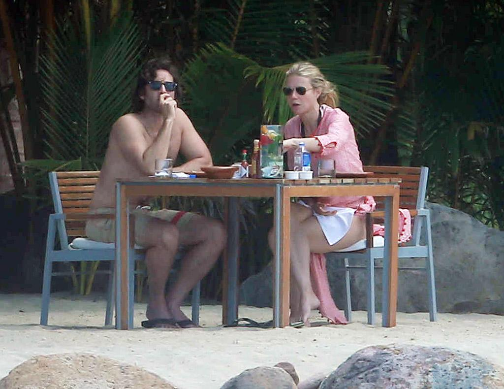 """<p>And here she is in — shocker — in Mexico in January 2016. The <em>Iron Man</em> actressandFalchuk stayed inPunta Mita, north of Puerto Vallarta, that time, renting a <a rel=""""nofollow"""" href=""""https://www.yahoo.com/style/gwyneth-paltrow-stayed-in-this-1348495346221110.html"""">$40,000-a-week villa through AirBNB</a>, which means they probably got it for free because, you know, celebrities can't afford vacations.(Photo: FameFlynet) </p>"""
