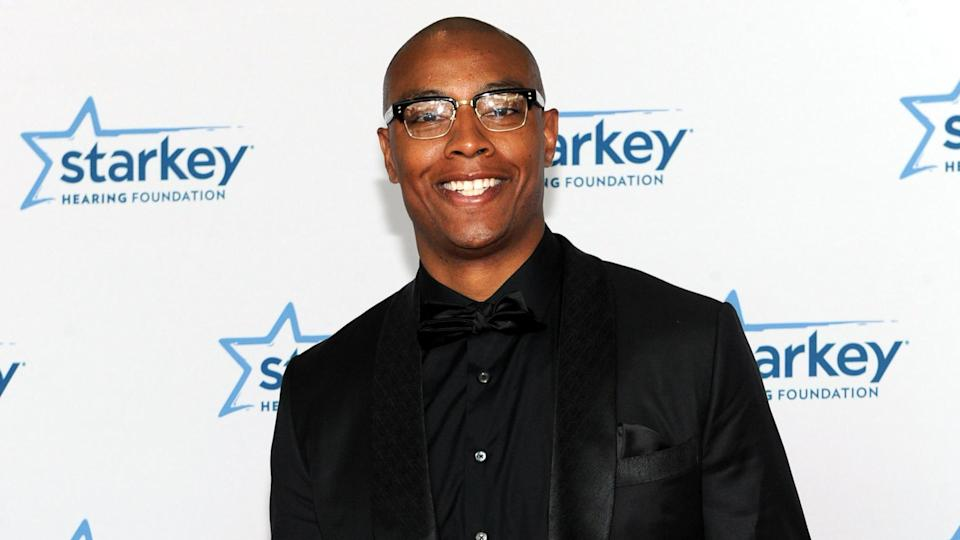 Los Angeles Clippers' Caron Butler is seen on the red carpet at the Starkey Hearing Foundation's