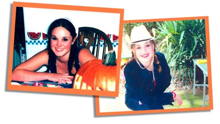 Two teenage images of Erica Harvey side-by-side, she is smiling and wearing a cowboy hat in one