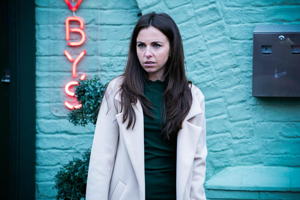 WARNING: Embargoed for publication until 00:00:01 on 16/03/2021 - Programme Name: EastEnders - January-March 2021 - TX: 22/03/2021 - Episode: EastEnders - January-March 2021- 6241 (No. 6241) - Picture Shows: ****EMBARGOED TILL TUESDAY 16TH MARCH 2021**** Ruby Allen (LOUISA LYTTON) - (C) BBC - Photographer: Kieron McCarron/Jack Barnes