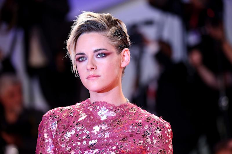 VENICE, ITALY - AUGUST 30: Kirsten Stewart walks the red carpet ahead of the