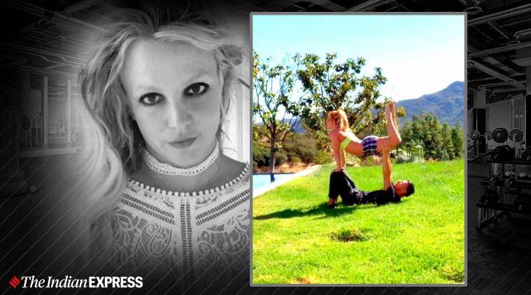 britney spears, indianexpress.com, indianexpress, britney spears fitness, britney spears news, britney spears pics, britney spears fitness coach, britney spears yoga, britney spears weight training, fitness goals, britney spears fitness news, britney spears favourite yoga pose,