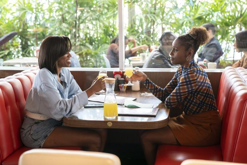 Yvonne Orji as Molly Carter and Issa Rae as Issa Dee in HBO's Insecure. (Season four, episode 9)