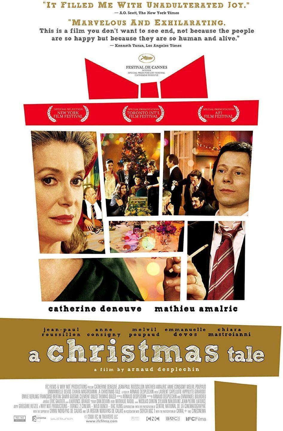 """<p>Even if you haven't heard of this 2008 French film before, this family drama set during Christmas and starring Catherine Deneuve is worth adding to your must-watch list.</p><p><a class=""""link rapid-noclick-resp"""" href=""""https://www.amazon.com/Christmas-Tale-English-Subtitled/dp/B003A8YX3O/?tag=syn-yahoo-20&ascsubtag=%5Bartid%7C10055.g.1315%5Bsrc%7Cyahoo-us"""" rel=""""nofollow noopener"""" target=""""_blank"""" data-ylk=""""slk:WATCH NOW"""">WATCH NOW</a></p><p><strong>RELATED: </strong><a href=""""https://www.goodhousekeeping.com/life/entertainment/g28860652/best-drama-movies-on-netflix/"""" rel=""""nofollow noopener"""" target=""""_blank"""" data-ylk=""""slk:25 Best Drama Movies on Netflix You'll Want to Watch Over and Over"""" class=""""link rapid-noclick-resp"""">25 Best Drama Movies on Netflix You'll Want to Watch Over and Over</a></p>"""