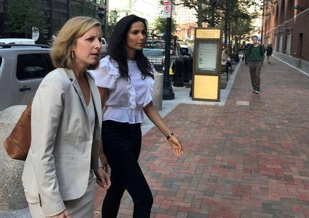 FILE PHOTO: Top Chef host Lakshmi enters federal court in Boston