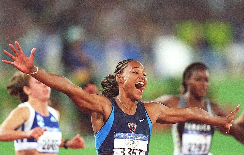 """<p>After she became the first female track and field athlete to win five medals in a single Olympics, <a href=""""https://go.redirectingat.com?id=74968X1596630&url=https%3A%2F%2Fwww.espn.com%2Folympics%2Ftrackandfield%2Fnews%2Fstory%3Fid%3D3151367&sref=https%3A%2F%2Fwww.redbookmag.com%2Flife%2Fg36983465%2Ficonic-olympic-scandals%2F"""" rel=""""nofollow noopener"""" target=""""_blank"""" data-ylk=""""slk:American competitor Marion Jones fell from glory"""" class=""""link rapid-noclick-resp"""">American competitor Marion Jones fell from glory</a>. In a pivot from her long period of denial, she admitted to using steroids before the games and was officially scrapped from the Olympic records.</p>"""