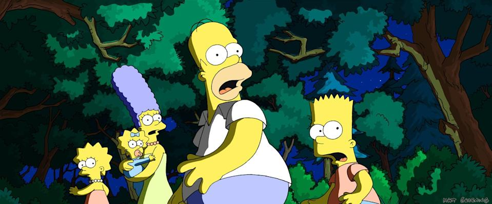 <p>It may be animated, but it's certainly not for kids! When the Simpsons get blamed for polluting the water supply in a way that threatens the entire world, their family is sharply divided. Homer has to set out to not only save the world, but also to earn his family's forgiveness.</p> <p><span>Watch <strong>The Simpsons Movie</strong> on Disney+.</span></p>