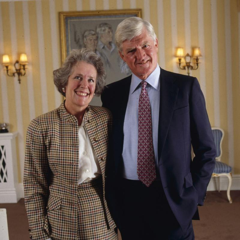 Lord Parkinson, with his wife Anne in 1992 - Credit: Brian Moody/Scopefeatures