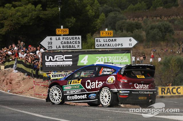 """Mads Ostberg e Jonas Andersson, Ford Fiesta RS WRC, Qatar M-Sport World Rally Team <span class=""""copyright"""">XPB Images</span>"""