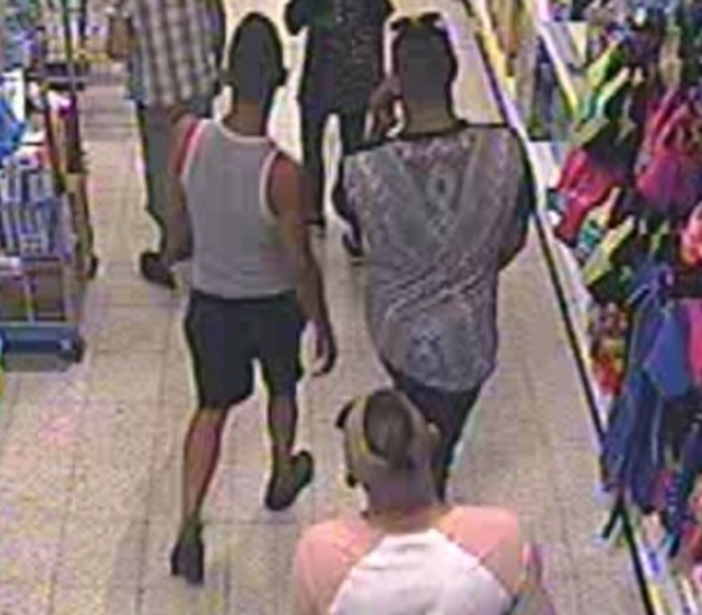 Police say they wish to speak to the men after an incident at a Home Bargains store in the city.