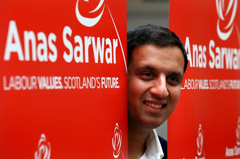 <strong>Anas Sarwar at his campaign headquarters in Glasgow </strong> (PA Wire/PA Images)