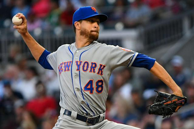 Mets fans can breath a sigh of relief. Jacob deGrom may be back on the mound as soon as Friday. (AP)