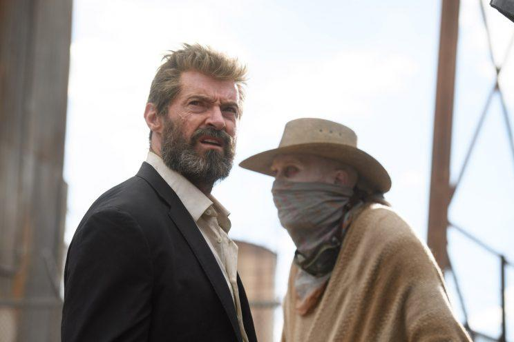 Logan (Hugh Jackman) and Caliban (Stephen Merchant) in Logan Wolverine