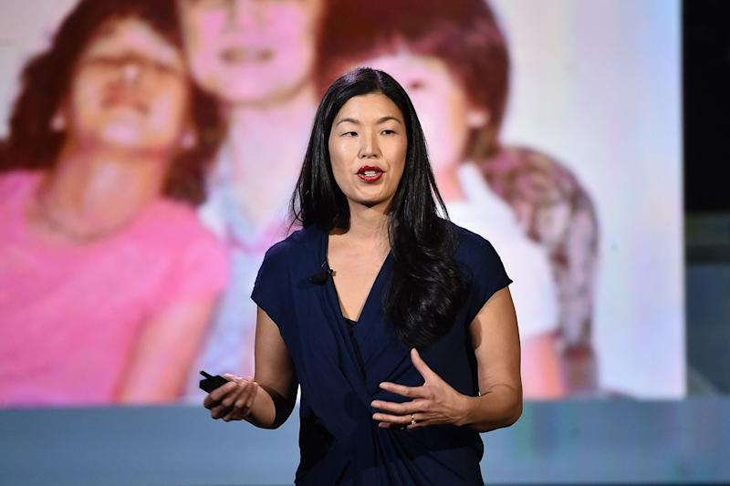 National Domestic Workers Alliance director Ai-Jen Poo speaks at the AOL 2016 MAKERS conference at Terranea Resort on Feb. 2, 2016 in Rancho Palos Verdes, California. (Photo: Alberto E. Rodriguez/Getty Images)