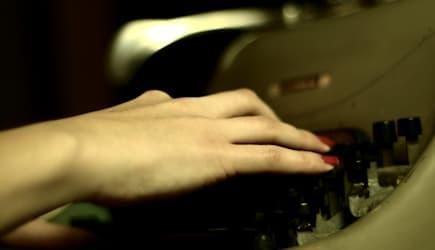 The young typist