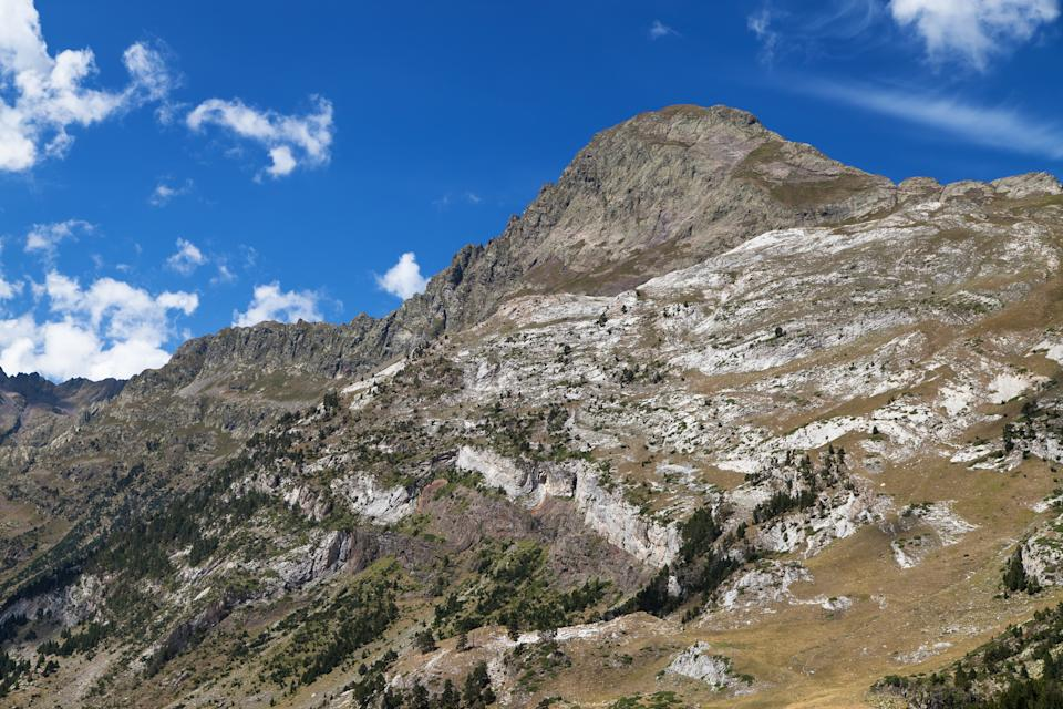 South Face of the Tuca de Salvaguardia in the Posets-Maladeta Nature Park, Pyrenees, Spain.