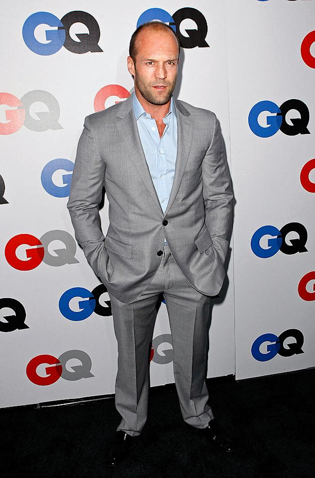 """Hunky """"Transporter"""" star Jason Statham also came out for the bash, which was held at Hollywood's historic Chateau Marmont. Michael Buckner/<a href=""""http://www.gettyimages.com/"""" target=""""new"""">GettyImages.com</a> - November 18, 2008"""