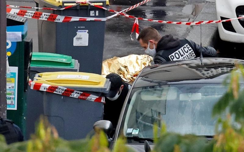 Police officers have been conducting an investigation at the scene - GONZALO FUENTES/REUTERS