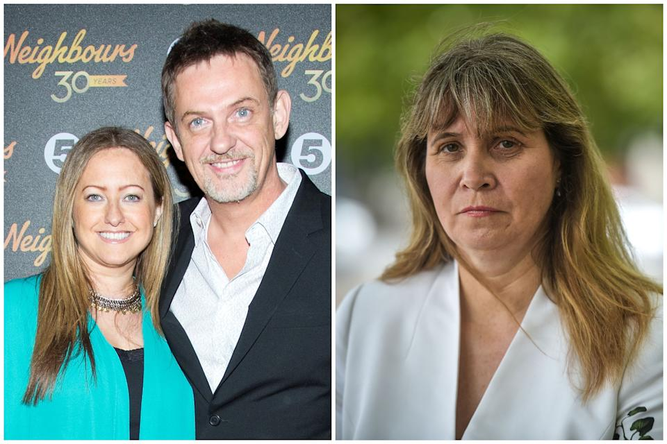 Matthew Wright and wife Amelia spoke about their ordeal after being stalked by Michelle Ranicar, right. (PA/SWNS)