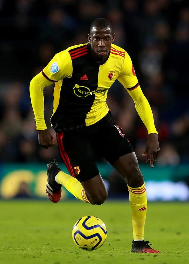 Watford's Abdoulaye Doucoure expects to be allowed to move to a bigger club (Adam Davy/PA)